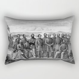 The Generals Of The Confederate Army Rectangular Pillow