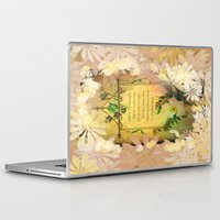 poem Laptop & iPad Skins featuring Love Poem by Lucia