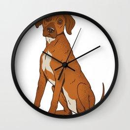 Rhodesian Ridgeback Dog Wall Clock