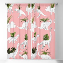 Dinosaurs & Succulents Blackout Curtain