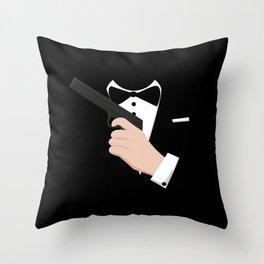 Bond Tuxedo Throw Pillow