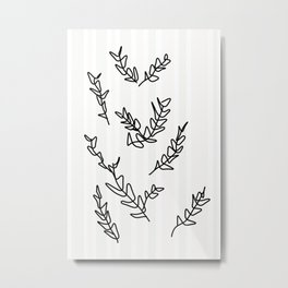 Growing Twigs - Striking Sideways Metal Print