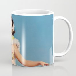 Hula Girl Vintage Pin Up Art Coffee Mug