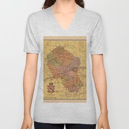 Map Of Cordoba 1900 Unisex V-Neck