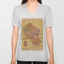 Map Of Cordoba 1900 Unisex V-Neck