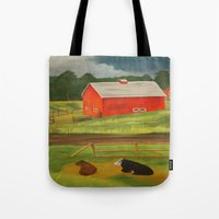 farm Tote Bags featuring Farm by ArtSchool