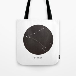 Pisces Star Constellation Tote Bag
