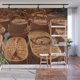 Wicker baskets for sale Wall Mural