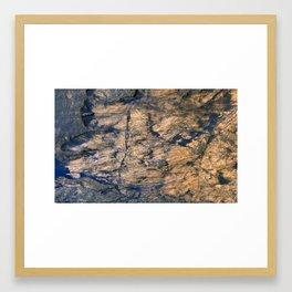Bedrock Outcrops in Kaiser Crater Framed Art Print
