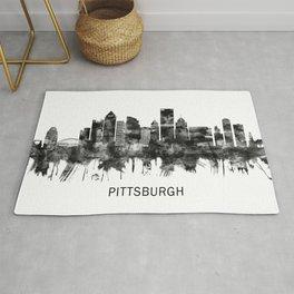 Pittsburgh Pennsylvania Skyline BW Rug