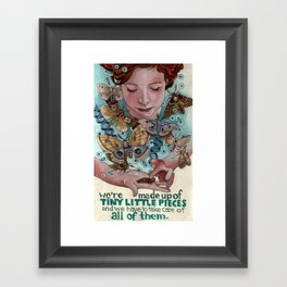 Tiny Little Pieces Framed Art Print