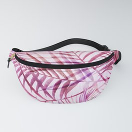 Pink Feathery Palm Pattern Fanny Pack