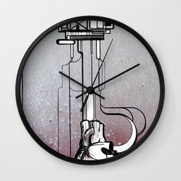 Rigged Heart - pumping nonesense Wall Clock