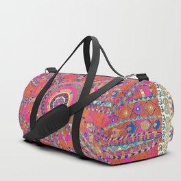 Large Medallion Suzani  Antique Uzbekistan Embroidery Print Duffle Bag