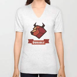 Durable Cow Unisex V-Neck