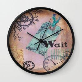 wait a minute Wall Clock