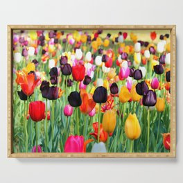 The Season Of Tulips Serving Tray