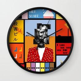 Tarantino illustration Wall Clock