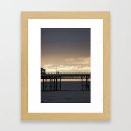 cromer pier Framed Art Print