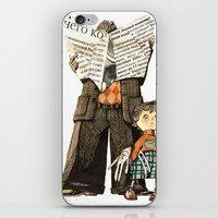 dad iPhone & iPod Skins featuring Dad by Ekaterina Bauman