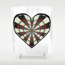 Don't use my heart as a Dartboard Shower Curtain