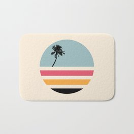 Retro Sunset 01 Bath Mat