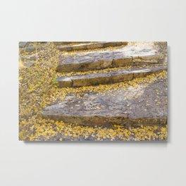 Golden Stairs Metal Print