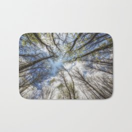 Looking up to the sky Bath Mat