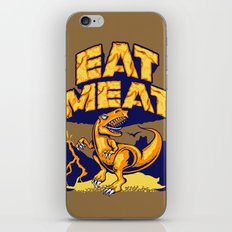 Eat Meat iPhone & iPod Skin
