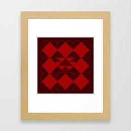 Abstract Heart Pattern Framed Art Print