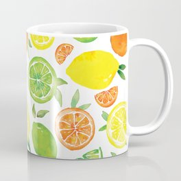 Citrus Pattern Coffee Mug