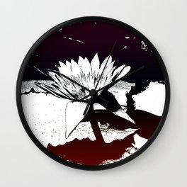 Stylized Water lily Wall Clock