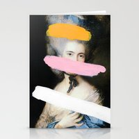 chad wys Stationery Cards featuring Brutalized Gainsborough 2 by Chad Wys
