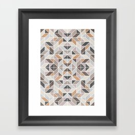 Patchwork inspider pattern Framed Art Print