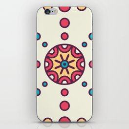 Bursting Circles Boho Design iPhone Skin