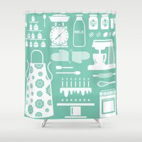 baking Shower Curtains featuring Baking Graphic by Modart Design