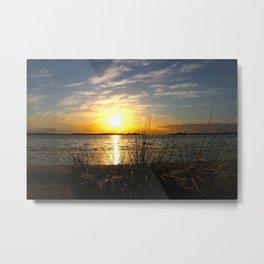 Estuary Sunset Metal Print