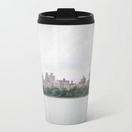 Monochromatic - New York City Central Park, Architecture Landscape, Cloudy City Skyline Photography Travel Mug