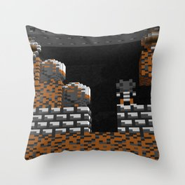 Inside Boulderdash Throw Pillow