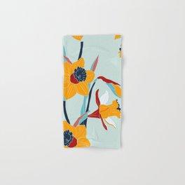 Mid Century spring floral Hand & Bath Towel