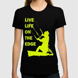 Live Life On The Edge Neon Yellow Kitebeach T-shirt