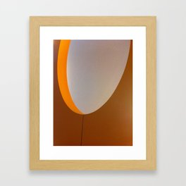 yoU shaped Framed Art Print