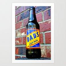 Retro root beer Art Print