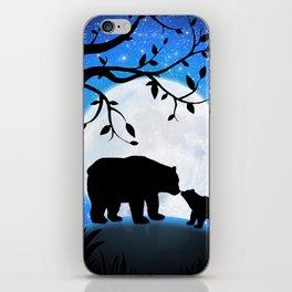 Moon and bears iPhone Skin