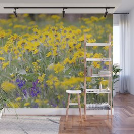 Meadow Gold - Wildflowers in a Mountain Meadow Wall Mural