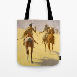 "Frederic Remington Western Art ""The Parley"" Tote Bag"