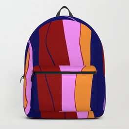 Vibes In Red Blue Pink Orange Backpack