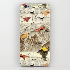 Peeling Pyrenees Paper Planes iPhone Skin