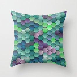 Honeycomb hexagonal Throw Pillow