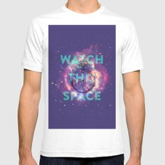 Watch this space White MEDIUM Mens Fitted Tee